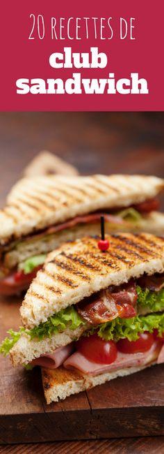 Pour un apéro, un déjeuner sur le pouce ou un pique nique : 20 recettes ultra faciles et rapide de club sandwich !