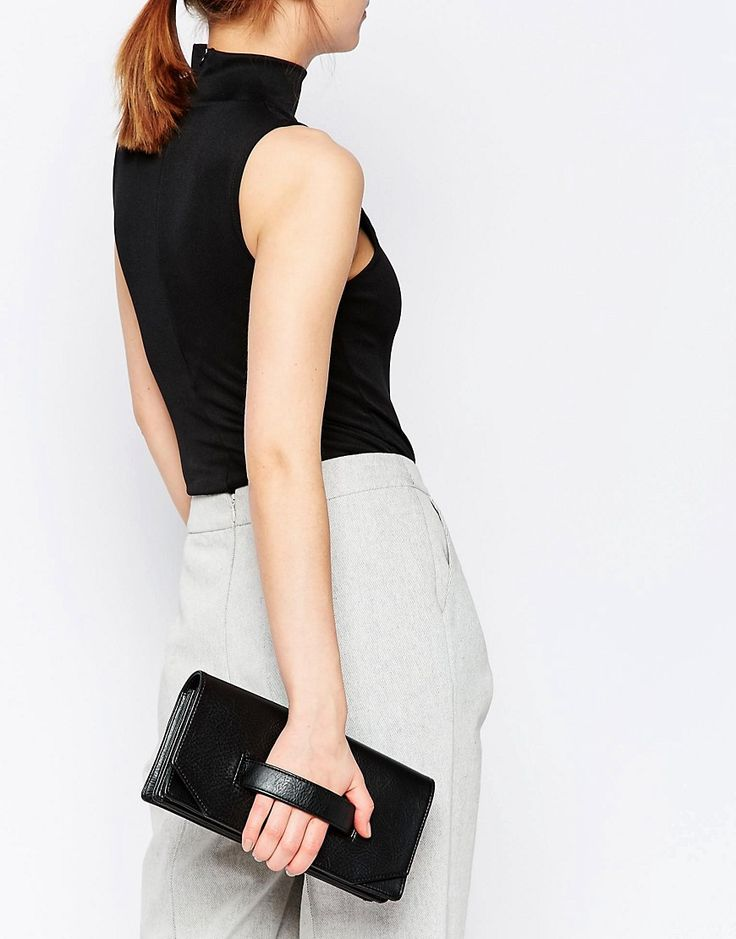 Image 3 of Matt & Nat Aboki Fold Over Clutch with Hand Grab in Black