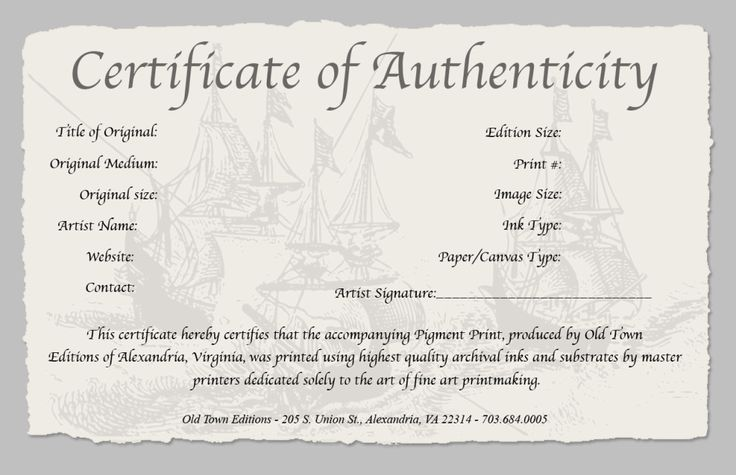 certificate of authenticity photography template - 7 best certificate templates images on pinterest
