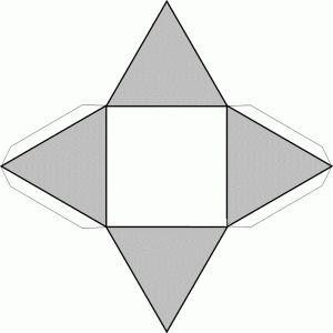 Piramidecuadrada,recortable figuras geometricas bidimensionales