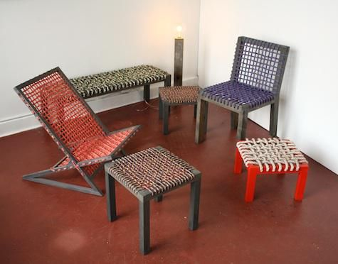 Contemporary furniture inspired by the 'charpai'.