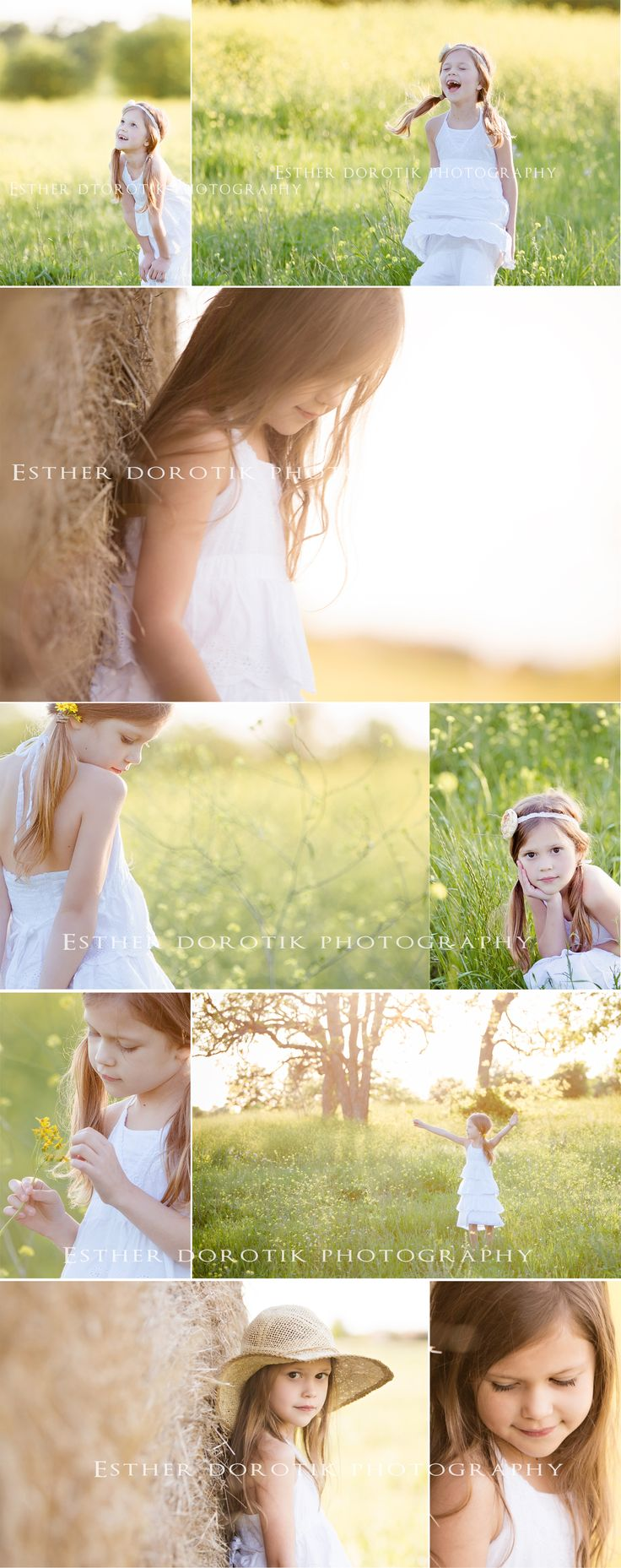 child photography, kid photography, 7 year old girl photography, outdoor photo session, sunset photography, flower field