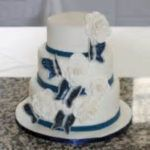 nice 99 Amazing Navy Blue Wedding Cakes for Different Touch  https://viscawedding.com/2017/07/08/99-amazing-navy-blue-wedding-cakes-for-different-touch/