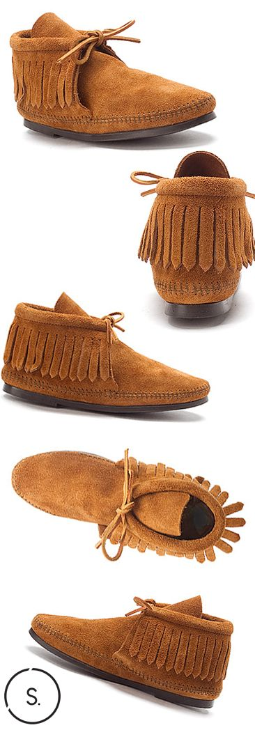 New Look Ladies Fringed Moccasin Shoes