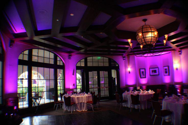 Purple uplighting was a great accent for this intimate wedding space. Www.orlandodjandlighting. & 8 best Hard Rock Hotel Universal Studios Wedding Lighting Ideas ... azcodes.com