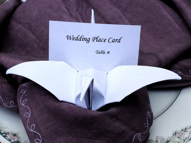 Wedding Place Card Holders - Origami Place Cards - Unique Wedding Place Cards - Offbeat Bride - Origami Wedding - Eclectic Wedding - Quirky #origamiwedding #weddingplacecards #offbeatbride