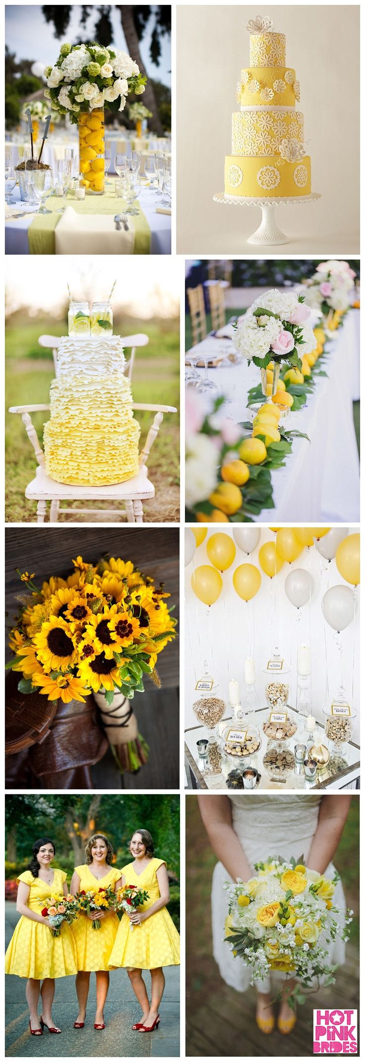 Yellow Wedding Inspiration | Hot Pink Brides | Modern Unique Glamorous Brides Guide