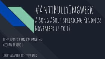 #Antibullyingweek November 13 to 17, 2017   Let's spread kindness together with this fun and engaging song!!