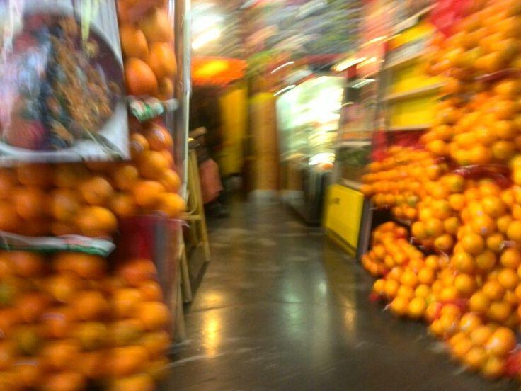 Oranges. Lots of oranges.
