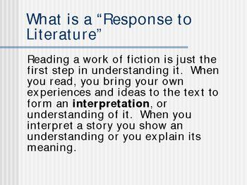 response to literature essay - Response To Literature Essay Format