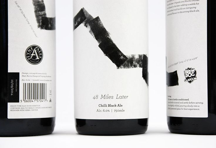 48 Miles later branding - awesome #packaging #design #art