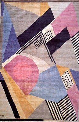Carpet textile design, France, 1925, by Sonia Delaunay.
