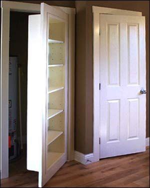 Hidden Passage Doorways - Bookshelf & Closet in Home decoration