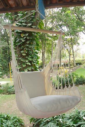 Hangstoelen van organisch katoen. Deze hangstoel is in een XL maat dus extra comfortable. Bestel u hangstoel online bij Marañon hangmatten. De hangstoel en hangmat winkel van Nederland.