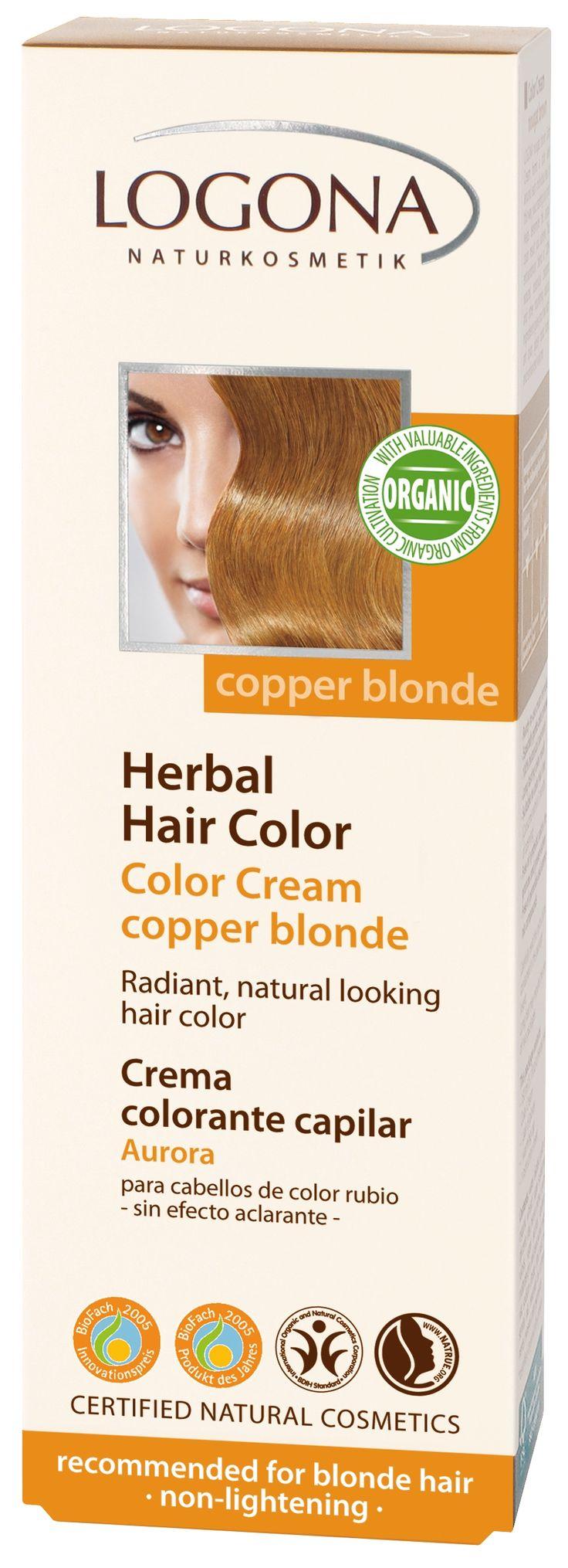 Logona Sarı & Kahve Renkli Saçlar için Kızıl Sarı Bitkisel Krem Boya - Indian Summer 150 ml.