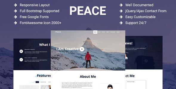 Peace - Creative Personal Portfolio / Resume / CV