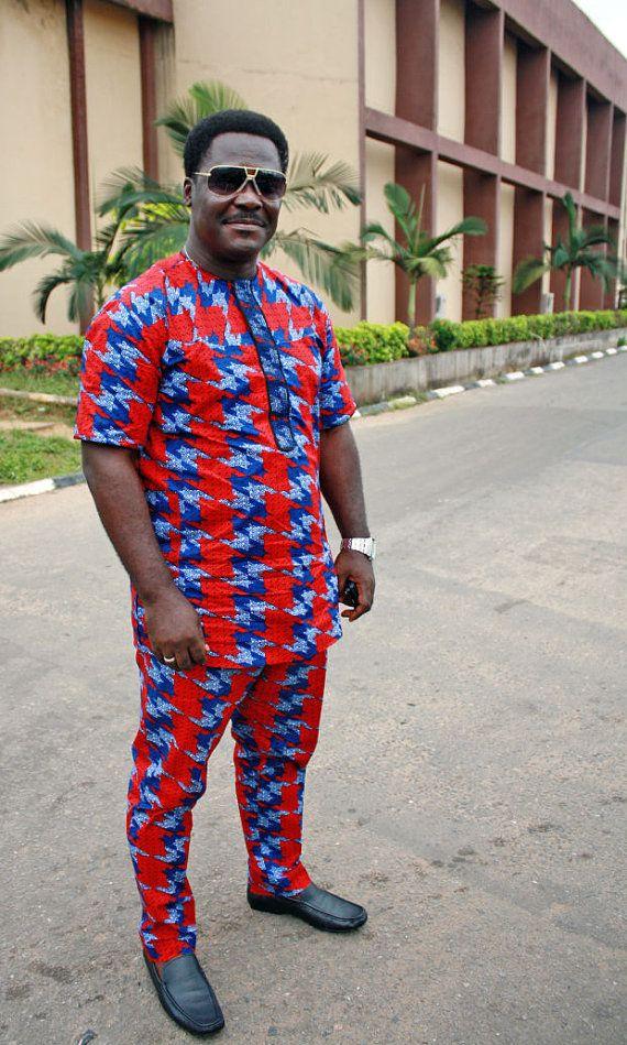Afrikaanse mannen kleding Afrikaanse mannen mode Nigeriaanse mannen mode kleding Nigeriaanse mannen mode mannen Outfits Afrikaanse mannen op maat gemaakte kledingstuk