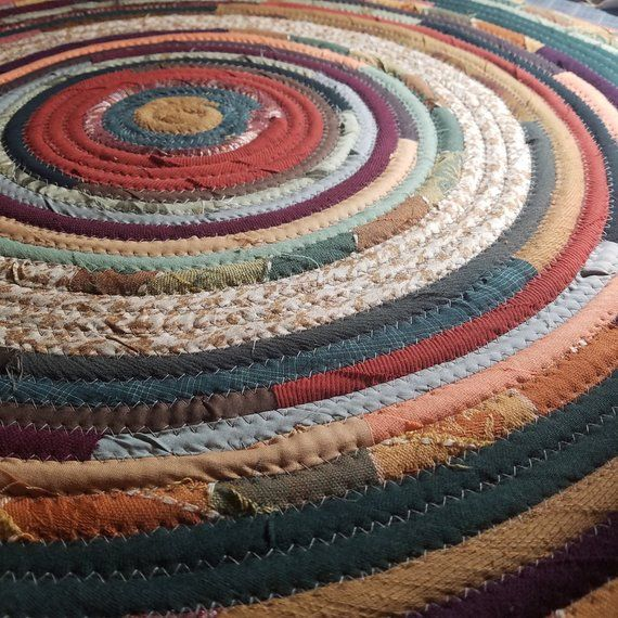 Colorful Round Rag Rug, Made To Order Vintage Inspired