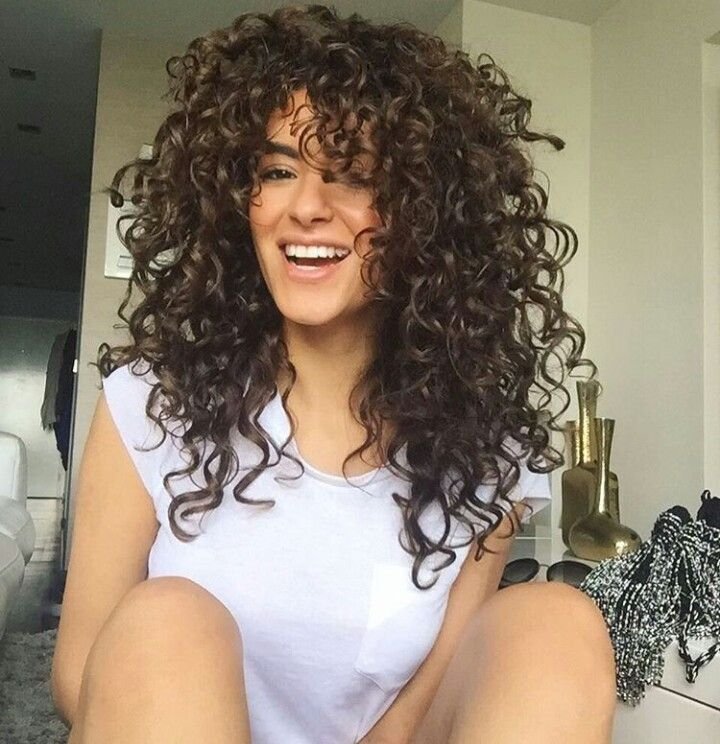 curly layered medium long hair