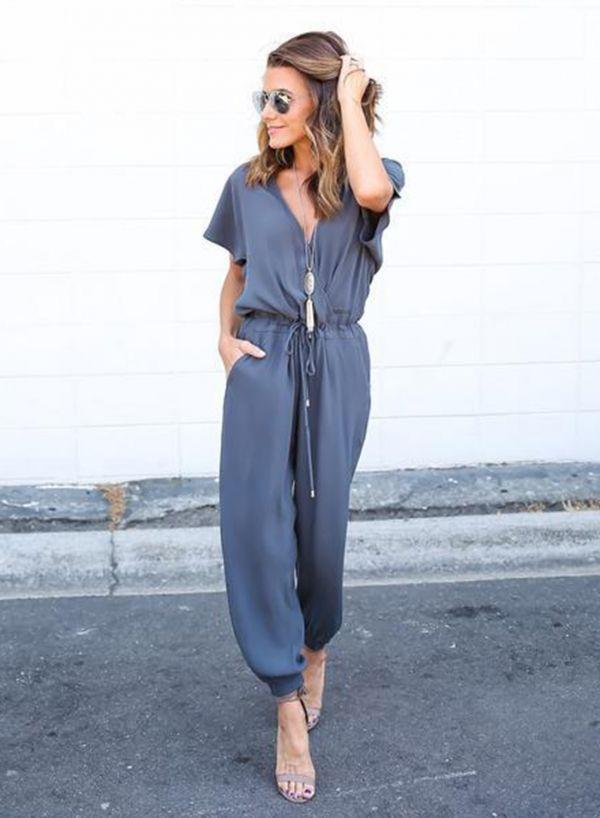 ef2325a6954 Fashion Striped Off Shoulder Sleeveless Tie Waist Wide Leg Jumpsuits -  ROAWE.COM
