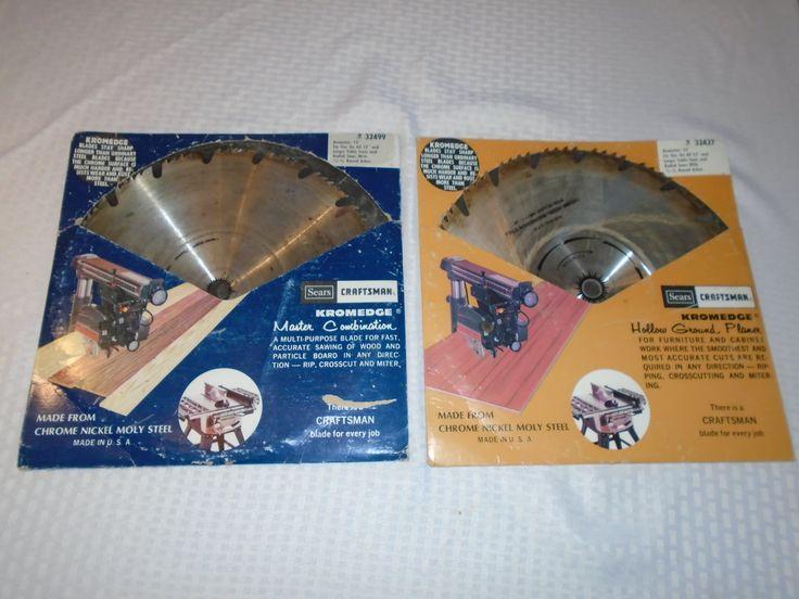 Sears Craftsman Table saw Blades / Kromedge Blades / Craftsman / Table Saw / Saws / Tools / Blades / by Montyhallsshowcase on Etsy