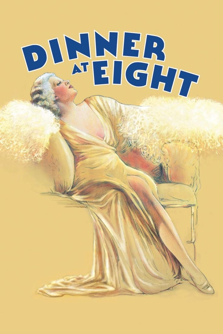 Dinner at Eight (1933) Starring Marie Dressler, John Barrymore, Wallace Beery, and Jean Harlow   Classic Movie Treasures  Social climbing Millicent and Oliver Jordan throw a dinner for a bunch of New York society types, each of whom has much to reveal.   Click to see where you can stream online or download for later. #ClassicMovies #OldHollywood #movies #ClassicMovieList #ClassicMoviesToWatch #1933