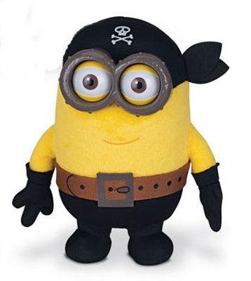 Плюшевый миньон-пират. Размер игрушки 13 см.