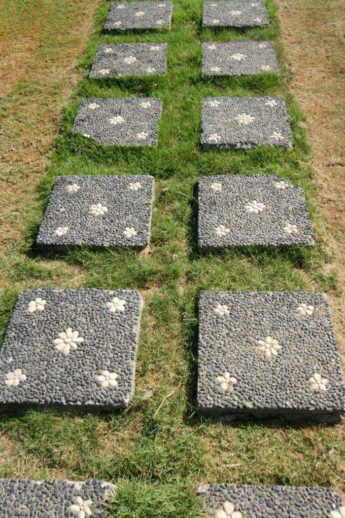 gartengestaltung mit stein garten gestalten vorgarten gestalten mit steinen trittsteine