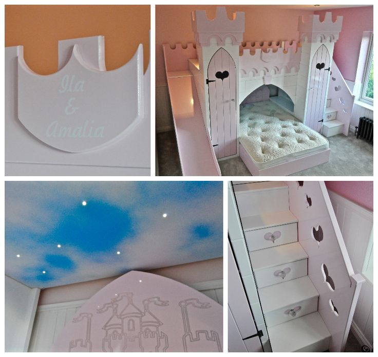 Children's Princess Castle Bed