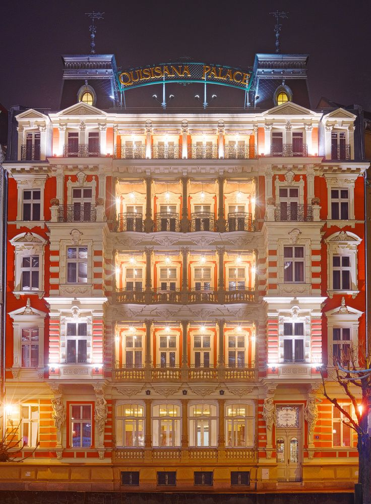 Quisisana Palace in Karlovy Vary, Czech Republic is a superb restoration in a Bohemian town renowned for its hot springs. http://www.slh.com/hotels/quisisana-palace/