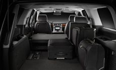 First-class Interior of the 2014 GMC Yukon SUV with seating for nine