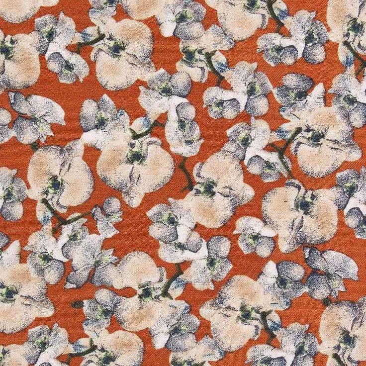 Viscose Twill Fabric Rust Beige 150cm - Viscose Prints & Plains - Dressmaking Fabrics - Fabric