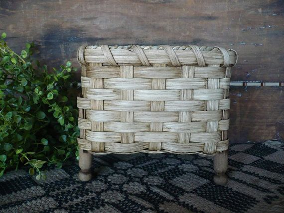 Antique Clothespin Handwoven Basket by 1803ohiofarmbaskets on Etsy, $16.00