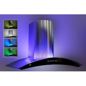 60cm chimney cooker hood with led mood lighting free for Kitchen spotlights amazon