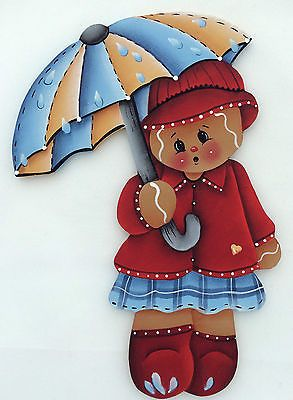HP GINGERBREAD FRIDGE MAGNET with umbrella