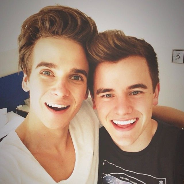 Joe Sugg and Connor Franta, my two favourite human beings in one photo omg! <3