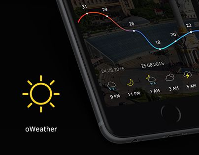 """Check out new work on my @Behance portfolio: """"oWeather 3.0"""" http://on.be.net/1RizGd9"""