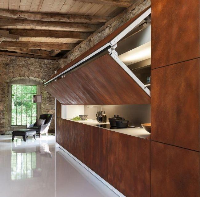 Warendorf Versteckte Küche Faltbare Tür Front