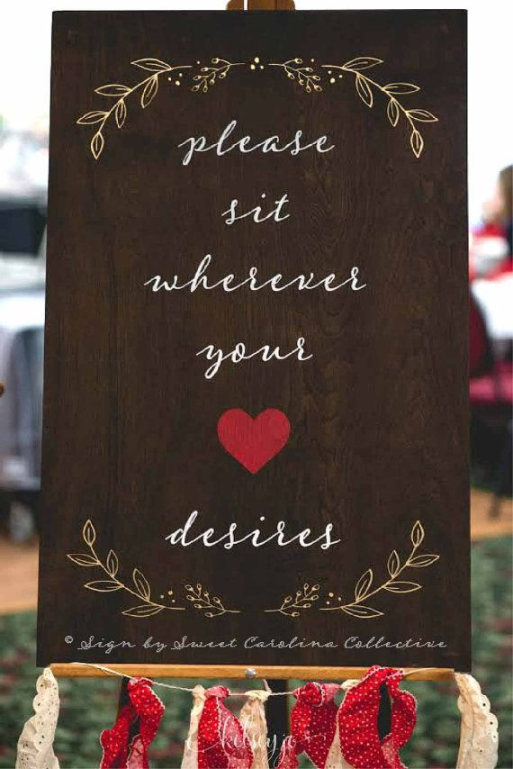 No seating plan wood wedding sign  Please sit by SweetNCCollective