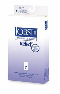 >Relief kn lg bge opn 30-40. Relief Therapeutic Knee High Support Stockings, 30-40 mmHg