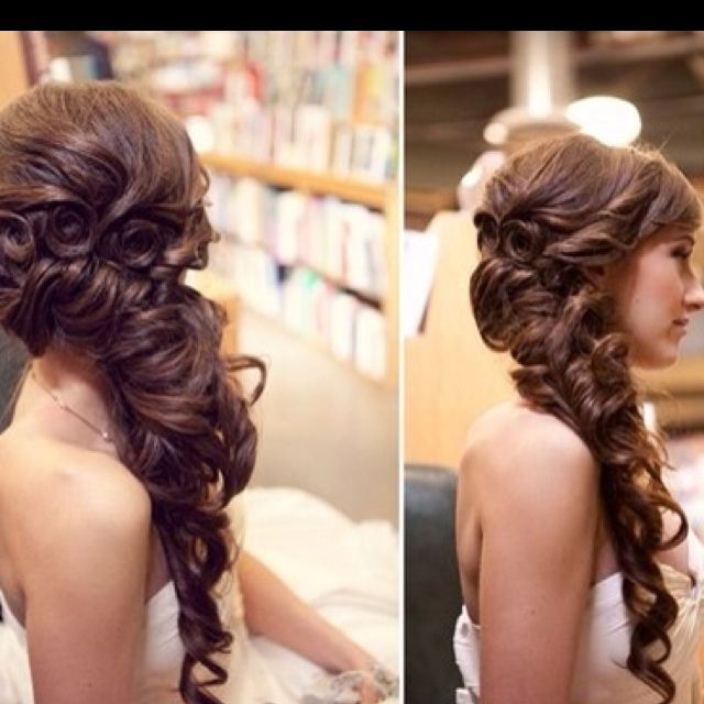 Side Wedding Hairstyles: Very Nice One Sided Hairstyle