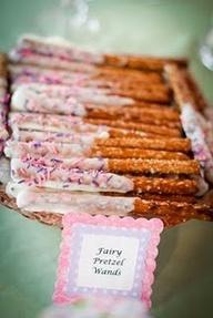 tinkerbell desserts | fairy pretzel wands