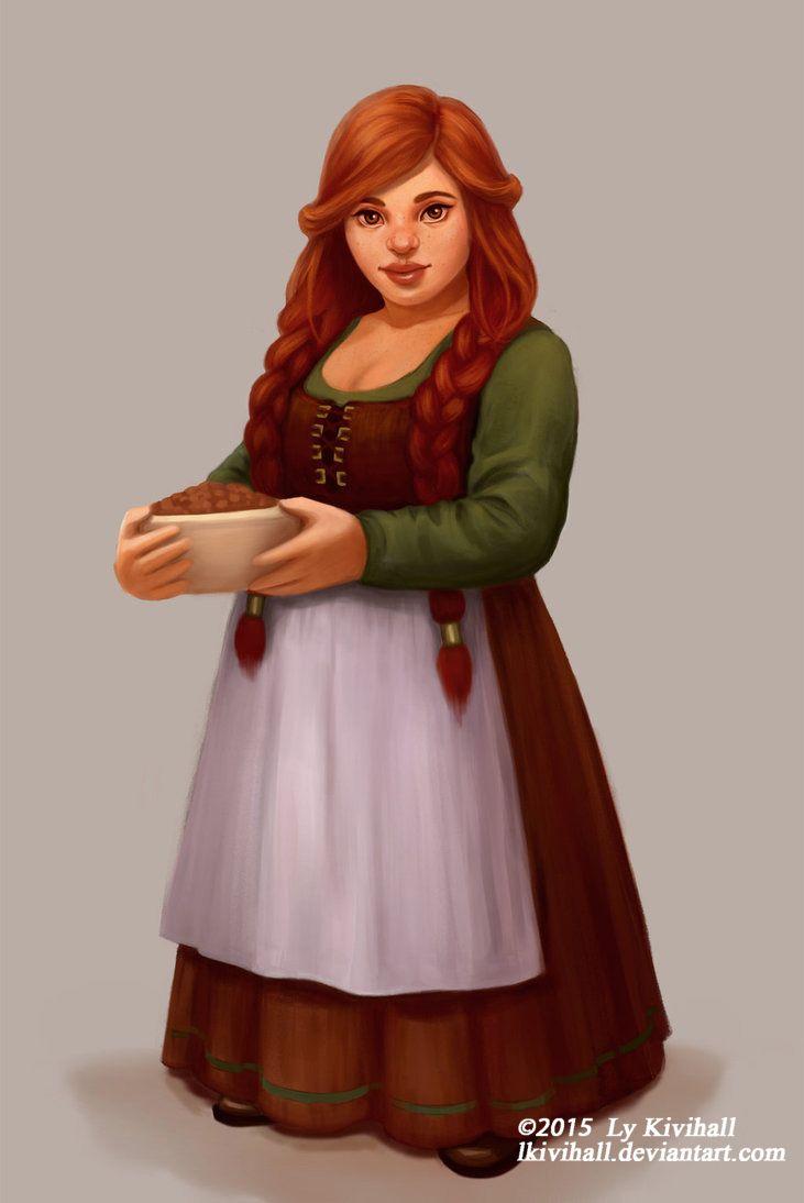 Innkeepers daughter by LKivihall.deviantart.com on @DeviantArt