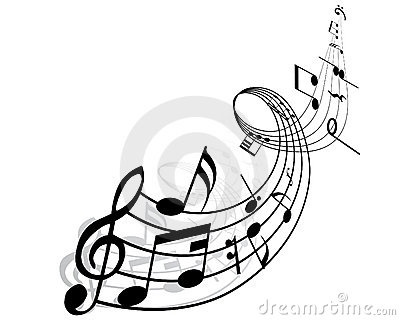 Musical notes by Pavel Konovalov, via Dreamstime