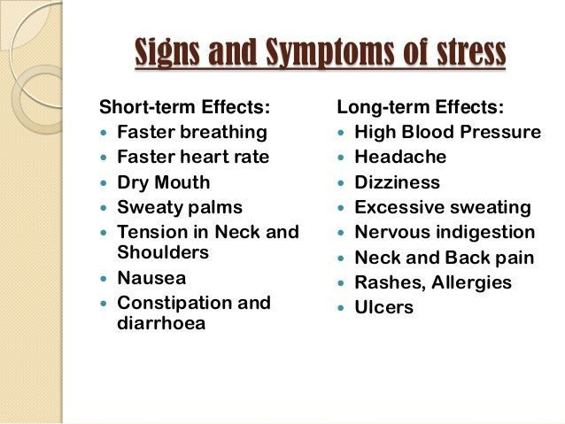 The Effects Of Stress On Your Body Stress Symptoms Effects Of