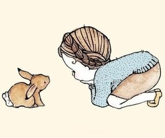 Girl with Rabbit, possible tattoo idea.