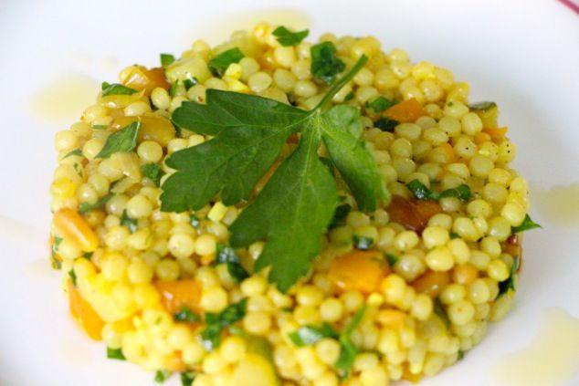 ptitim israeli couscous on plate
