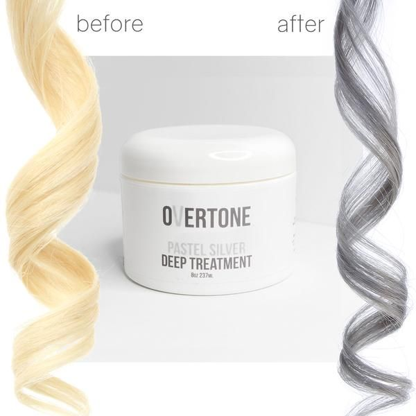 Light silver or gray hair dyes can be tricky to maintain, but it's easier with oVertone color conditioners! Use them to stop your silver hair color from fading.