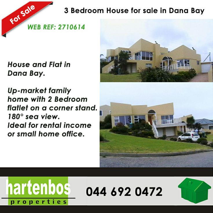 House and Flat in Dana Bay Up-market family home with 2 bedroom flatlet on a corner stand. 180° sea view. Ideal for rental income or small home office WEB REF: 2710614 #seaview #property #danabay