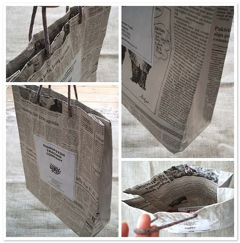 25 unique newspaper bags ideas on pinterest diy gift for Recycled crafts to sell